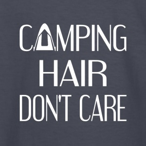 Camping Hair Don't Care - Kids' Long Sleeve T-Shirt