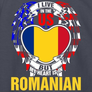 I Live In The Us But My Heart Is In Romanian - Kids' Long Sleeve T-Shirt