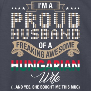 Im A Proud Husband Of A Freaking Awesome Hungarian - Kids' Long Sleeve T-Shirt