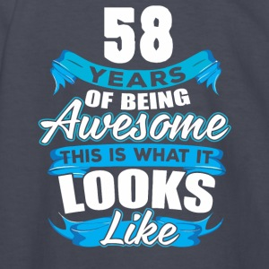 58 Years Of Being Awesome Looks Like - Kids' Long Sleeve T-Shirt