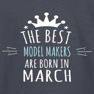 Best MODEL_MAKERS are born in march - Kids' Long Sleeve T-Shirt