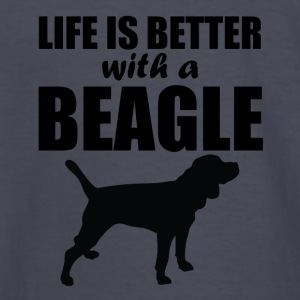 Life Is Better With A Beagle - Kids' Long Sleeve T-Shirt