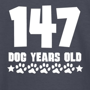 147 Dog Years Old Funny 21st Birthday - Kids' Long Sleeve T-Shirt