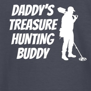 Daddy's Treasure Hunting Buddy - Kids' Long Sleeve T-Shirt