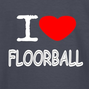 I LOVE FLOORBALL - Kids' Long Sleeve T-Shirt