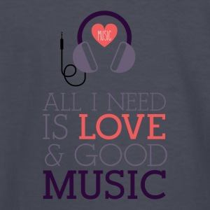 Love & Music - Kids' Long Sleeve T-Shirt