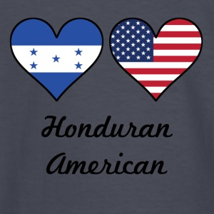 Honduran American Flag Hearts - Kids' Long Sleeve T-Shirt