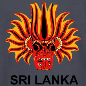 Sri Lanka Mask - Kids' Long Sleeve T-Shirt