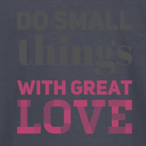 Do Small Things grey/rose - Kids' Long Sleeve T-Shirt