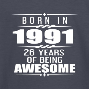 Born in 1991 26 Years of Being Awesome - Kids' Long Sleeve T-Shirt