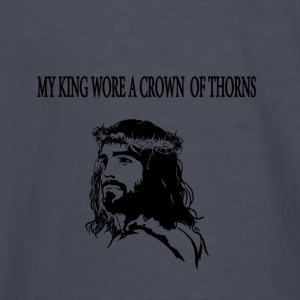 My King Jesus wearing crown of thorns. - Kids' Long Sleeve T-Shirt