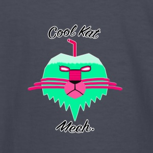 Cool Kat Mech. (Neon Glow) - Kids' Long Sleeve T-Shirt