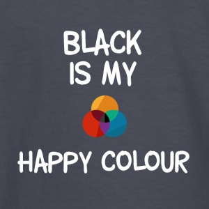 Black is my happy colour - Kids' Long Sleeve T-Shirt