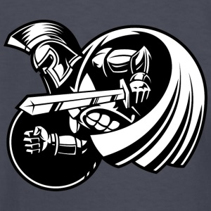 black_gladiator_with_sword_and_shield - Kids' Long Sleeve T-Shirt