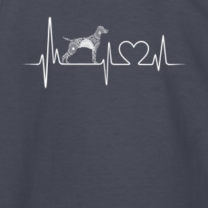 Vizsla Heartbeat Shirt - Kids' Long Sleeve T-Shirt