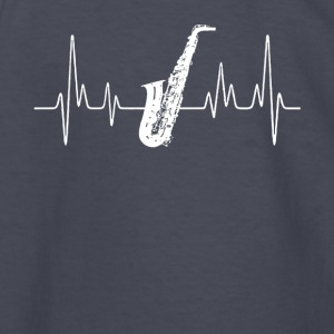 Alto Saxophone Heartbeat Shirt - Kids' Long Sleeve T-Shirt
