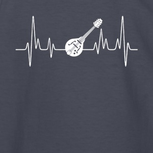 Mandolin Heartbeat Shirt - Kids' Long Sleeve T-Shirt