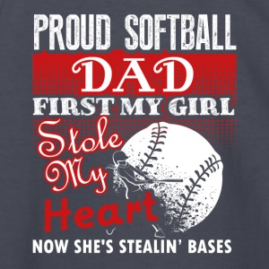 Proud Softball Dad Tee Shirt - Kids' Long Sleeve T-Shirt