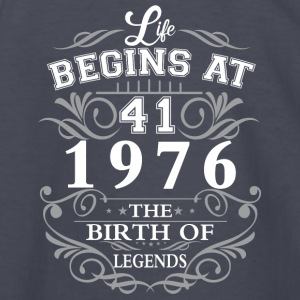 Life begins at 41 1976 The birth of legends - Kids' Long Sleeve T-Shirt