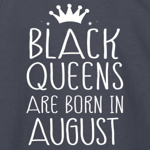 Black queens are born in August - Kids' Long Sleeve T-Shirt