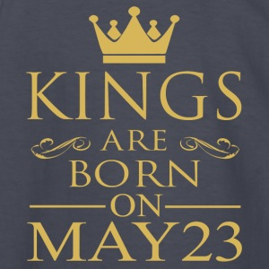 Kings are born on May 23 - Kids' Long Sleeve T-Shirt