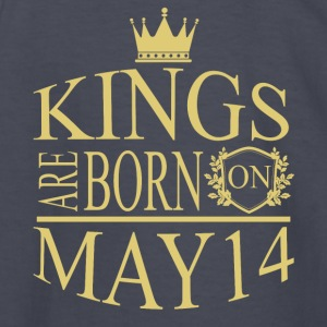 Kings are born on May 14 - Kids' Long Sleeve T-Shirt