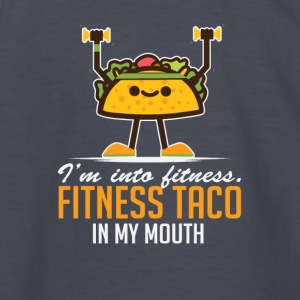 I'm Into Fitness Taco In My Mouth - Kids' Long Sleeve T-Shirt