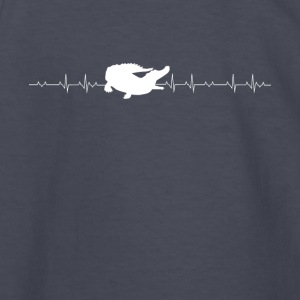 Aligator lover heartbeat - Kids' Long Sleeve T-Shirt