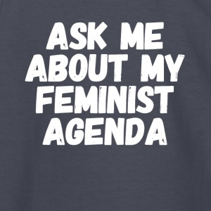 Ask me about my feminist agenda - Kids' Long Sleeve T-Shirt