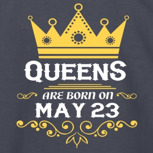 Queens are born on May 23 - Kids' Long Sleeve T-Shirt
