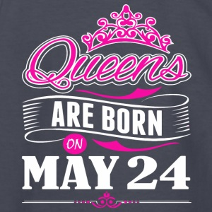 Queens are born on May 24 - Kids' Long Sleeve T-Shirt