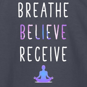 Breathe Believe Receive - Kids' Long Sleeve T-Shirt