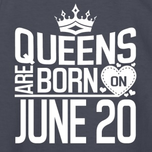 Queens are born on JUNE 20 - Kids' Long Sleeve T-Shirt