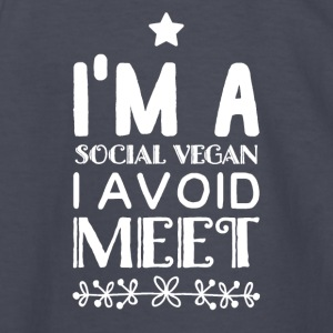 I'm a social vegan i avoid meet - Kids' Long Sleeve T-Shirt