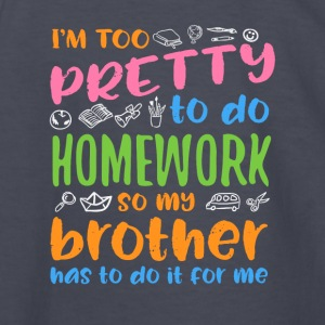 I´m too pretty to do homework - Kids' Long Sleeve T-Shirt