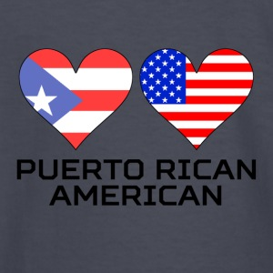 Puerto Rican American Hearts - Kids' Long Sleeve T-Shirt
