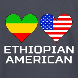 Ethiopian American Hearts - Kids' Long Sleeve T-Shirt