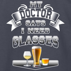 My Doctor Says I Need Glasses by Basement Mastermi - Kids' Long Sleeve T-Shirt