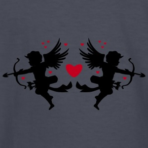 angel-draws-heart-valentines-day-love-shape - Kids' Long Sleeve T-Shirt