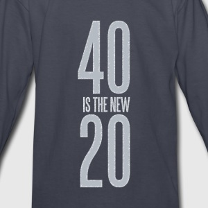 40 is the new 20 - Kids' Long Sleeve T-Shirt