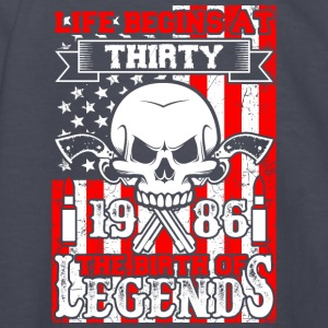 Life Begins At Thirty 1986 The Birth Of Legends - Kids' Long Sleeve T-Shirt