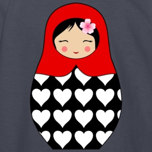 Red Matryoshka doll with hearts - Kids' Long Sleeve T-Shirt
