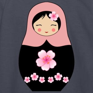 Rose Matryoshka doll with flowers - Kids' Long Sleeve T-Shirt