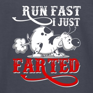 RUN FAST I JUST FARTED - Funny Dog Products - Kids' Long Sleeve T-Shirt