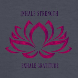 INHALE STRENGTH EXHALE GRATITUDE - Kids' Long Sleeve T-Shirt