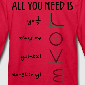 All you need is love (Equations) - Kids' Long Sleeve T-Shirt