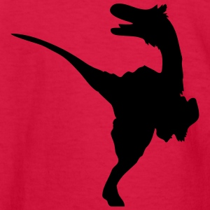 Dinosaur vector Silhouette - Kids' Long Sleeve T-Shirt