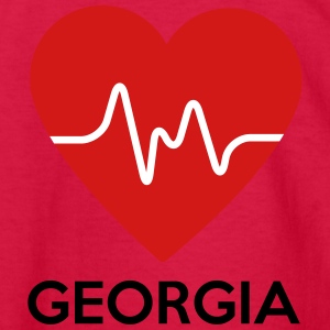 Heart Georgia - Kids' Long Sleeve T-Shirt
