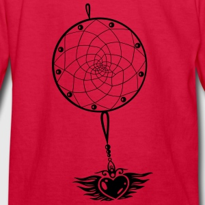 Dreamcatcher with heart and wings. - Kids' Long Sleeve T-Shirt