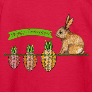 Happy Eastereggs Easter bunny waiting for carrots - Kids' Long Sleeve T-Shirt